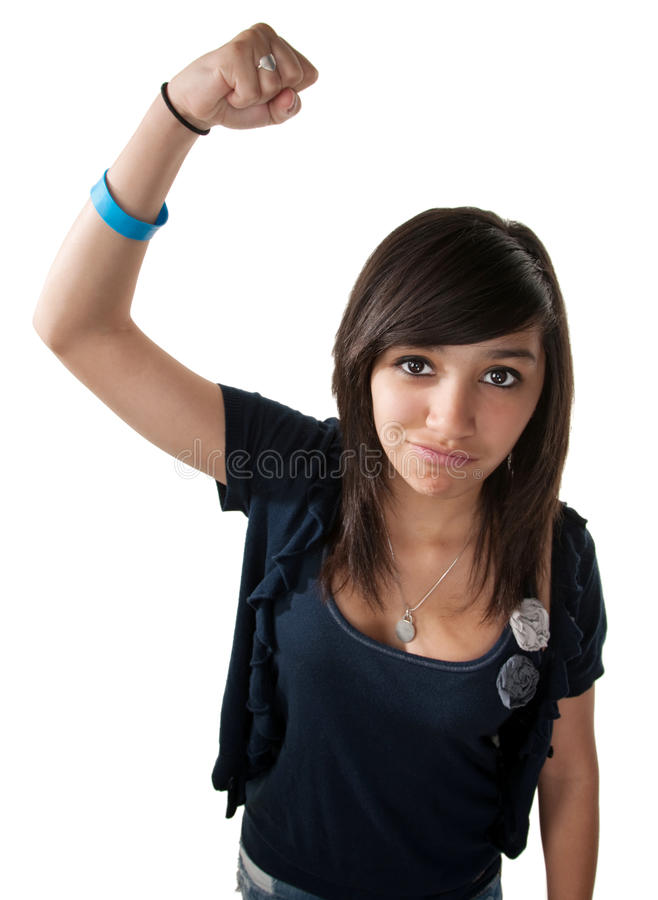Download Strong Latina stock image. Image of activist, action - 17898119