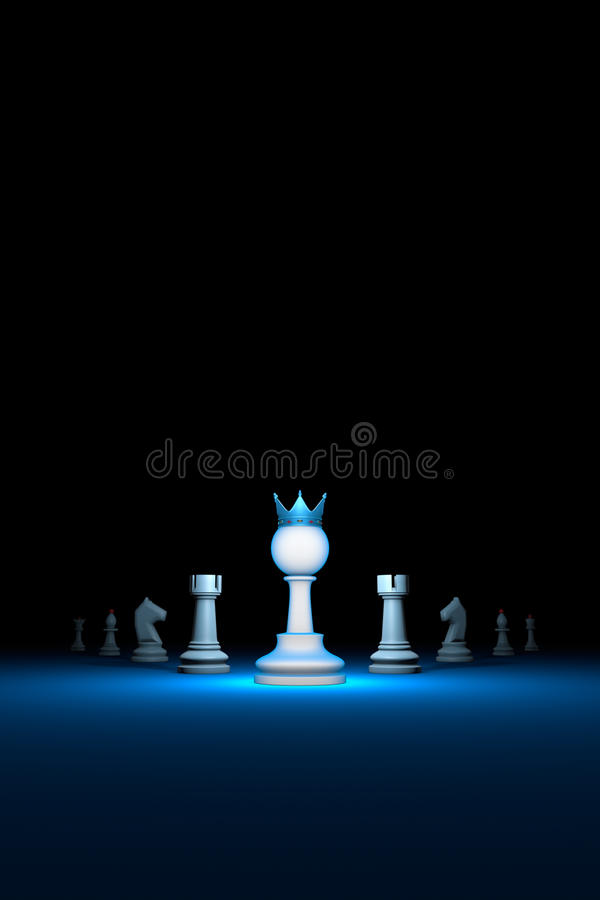 The strong leader. Prompt career big success.Vertical of autho royalty free stock photography