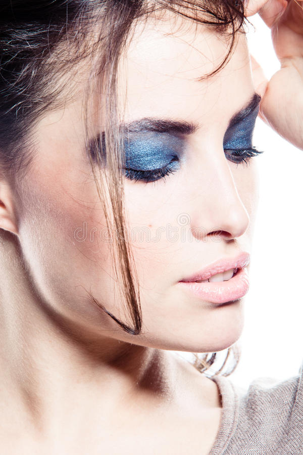 Download Strong make up stock photo. Image of fashion, look, close - 22735340