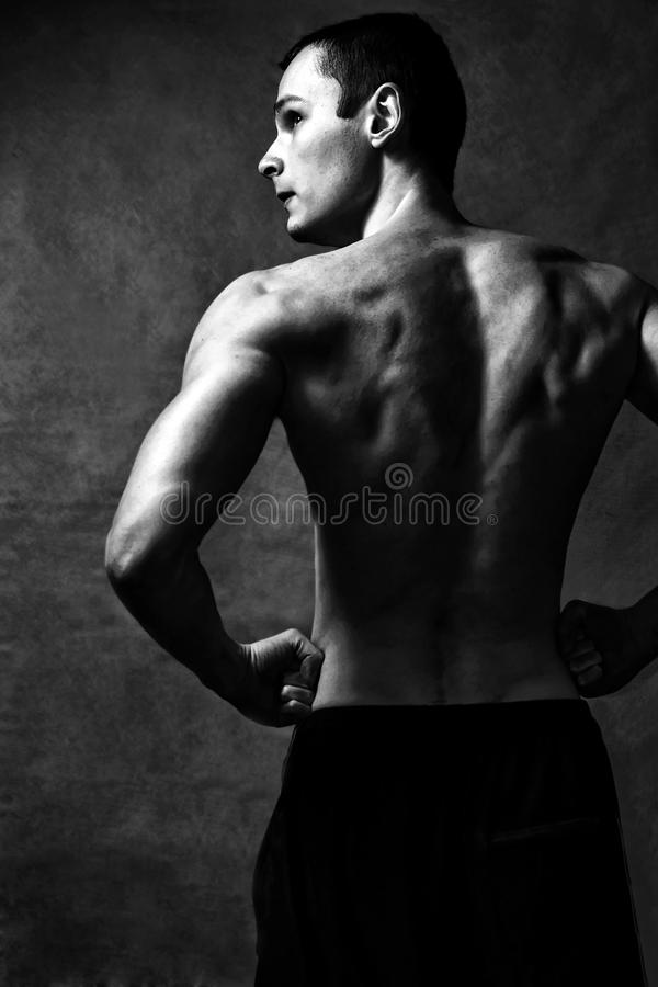 Download Strong man stock photo. Image of biceps, athletic, backside - 13705930
