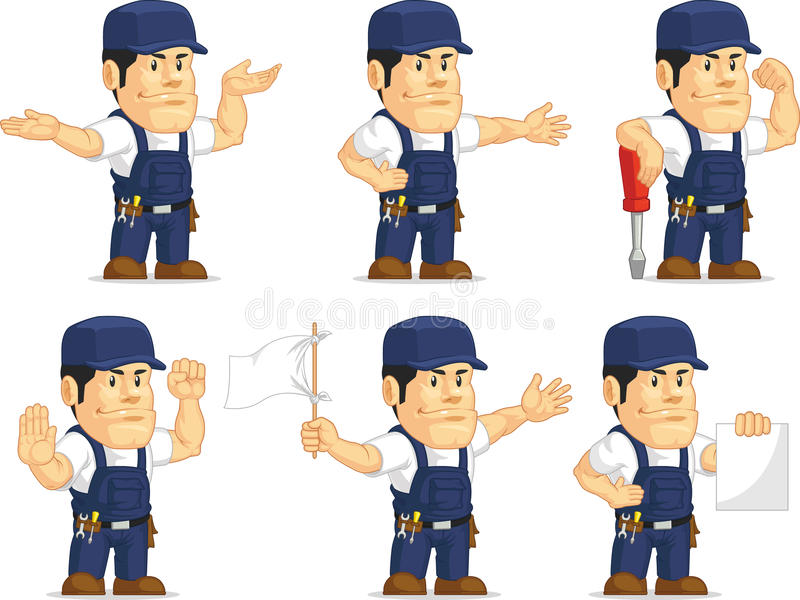 Strong Mechanic Mascot 4 royalty free illustration