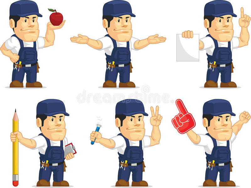 Strong Mechanic Mascot 5 vector illustration