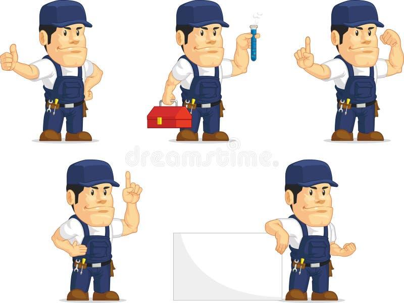 Strong Mechanic Mascot 7 vector illustration