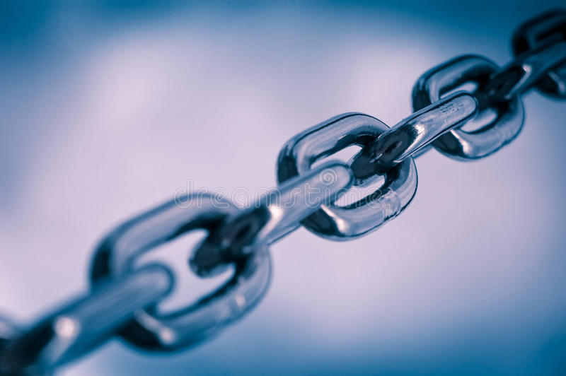 Strong metal chain royalty free stock photos
