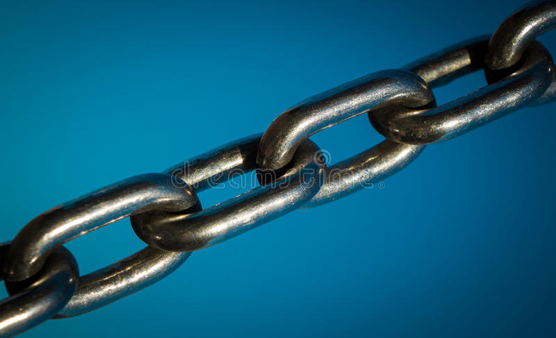 Strong metal chain royalty free stock image