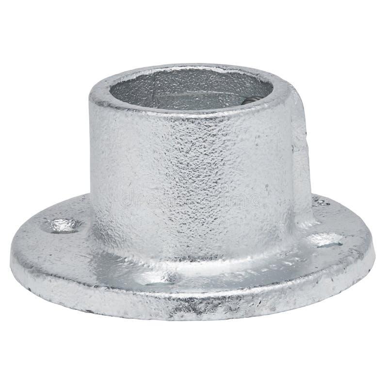 Isolated Round Metal Bracket on White Background royalty free stock photography
