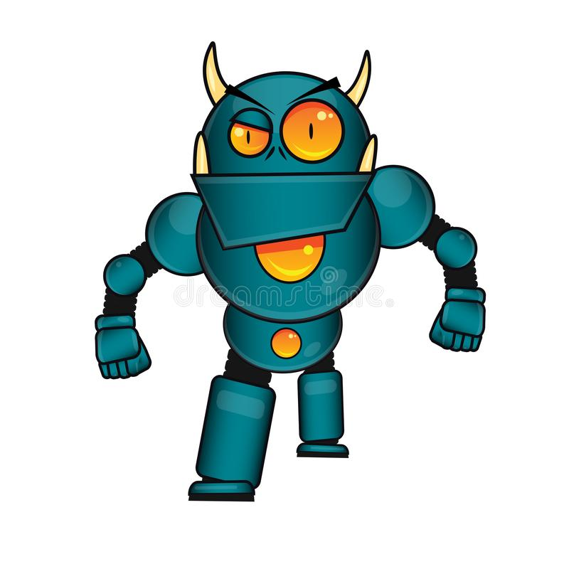Strong monster Robot vector stock illustration