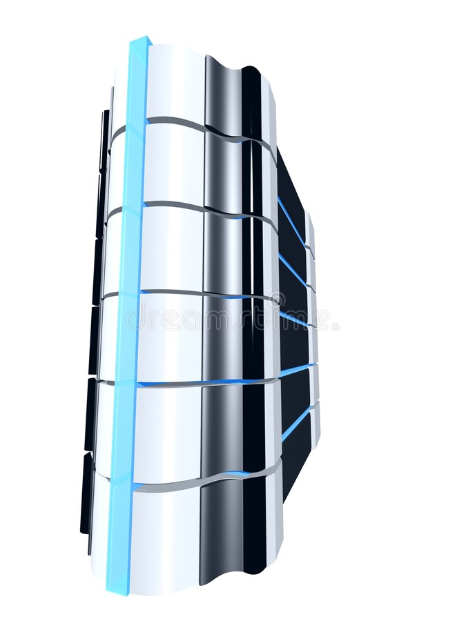 Strong pc tower stock illustration