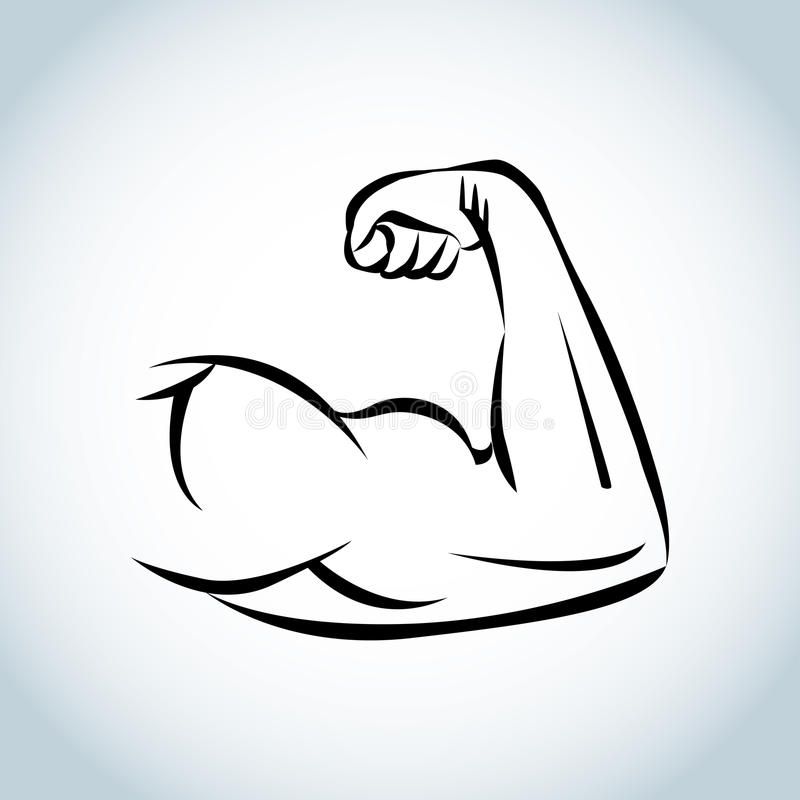 Strong power, muscle arms icon. illustration. vector illustration