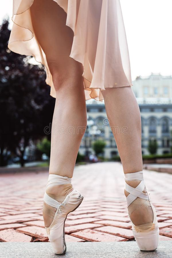Strong professional ballet dancer royalty free stock photo