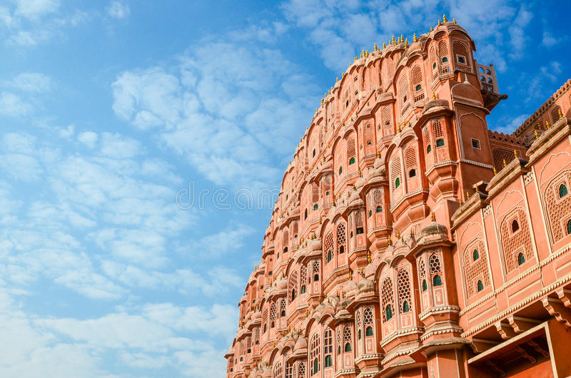 Strong red fort. The outside of the strong red fort,Hawa Mahal, Palace of the wind, India royalty free stock image