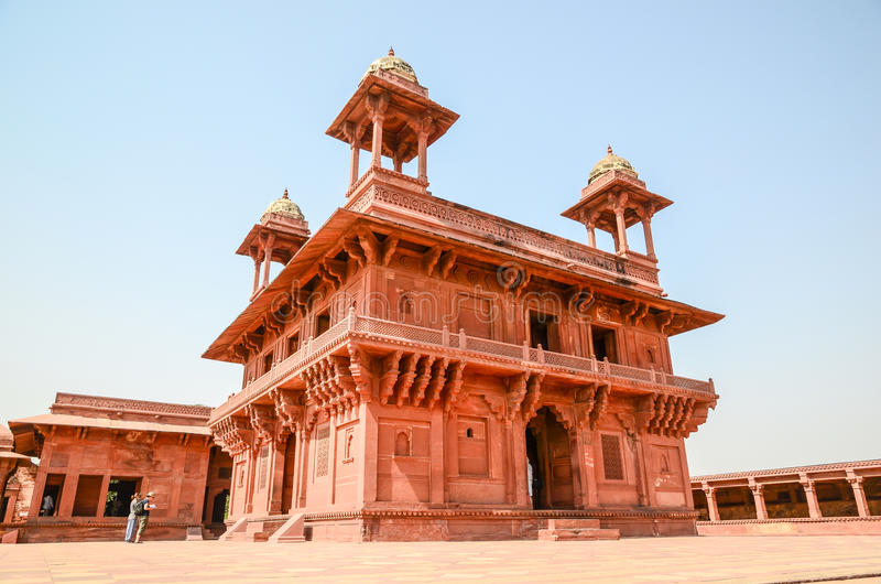 Strong red fort. The outside of the strong red fort, India stock photos