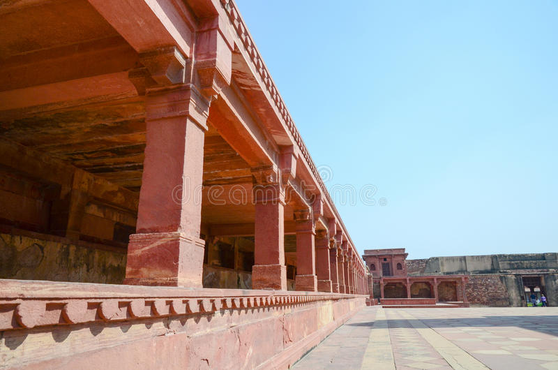 Strong red fort. The outside of the strong red fort, India stock image