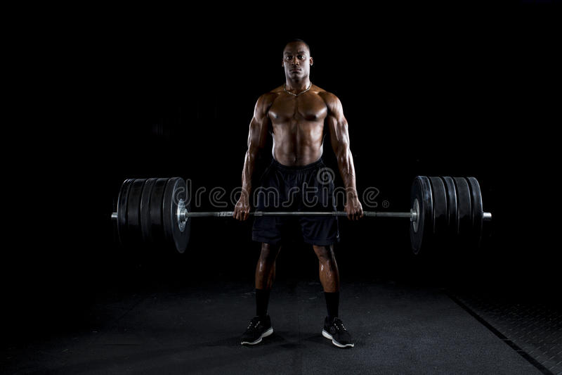 Download Strong Man Deadlifts A Lot Of Weight Stock Image - Image: 27977545
