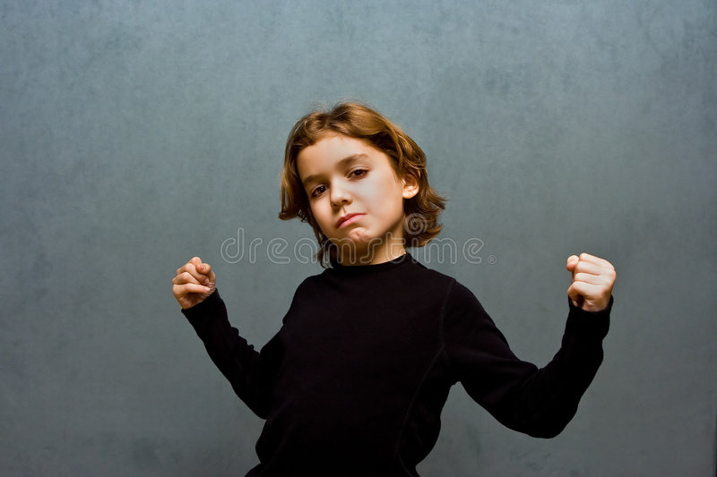 Download Strong skinny boy stock image. Image of kids, child, isolated - 4261215