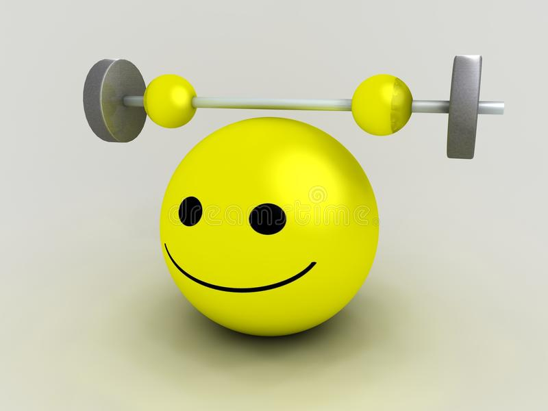 Strong Smiley Stock Image
