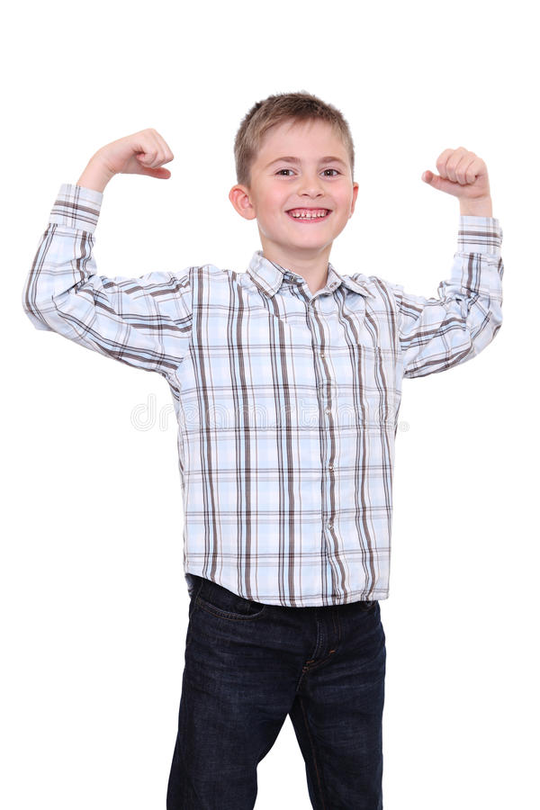 Download The strong smiling boy stock image. Image of schoolboy - 26457535