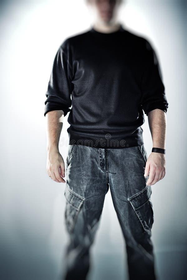 Download Strong stranger man stock image. Image of contrast, focus - 12700543