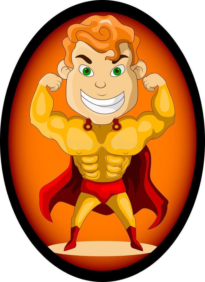 Download Strong super hero stock illustration. Illustration of happy - 27048756
