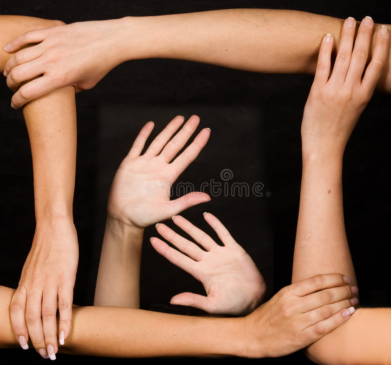 Download Strong team of hands stock photo. Image of sign, strength - 6907834