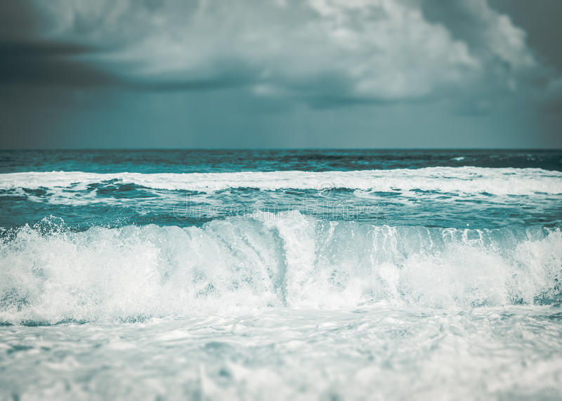 Strong wave in the sea royalty free stock image