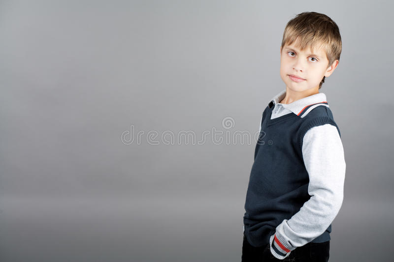 Strong Willed Boy Royalty Free Stock Images