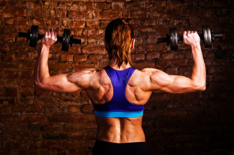 Strong woman stock photos