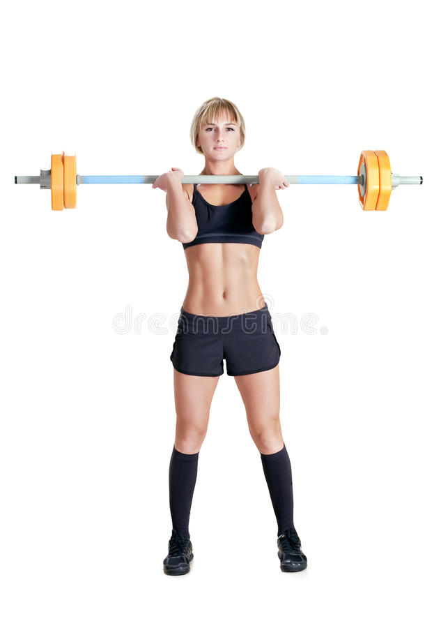 Download Strong Young Woman With Barbell Stock Photos - Image: 28443953