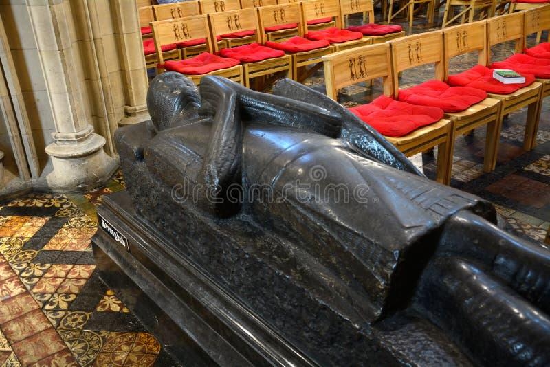 Strongbow的坟茔在牛津大学基督堂学院,都伯林,爱尔兰 库存图片