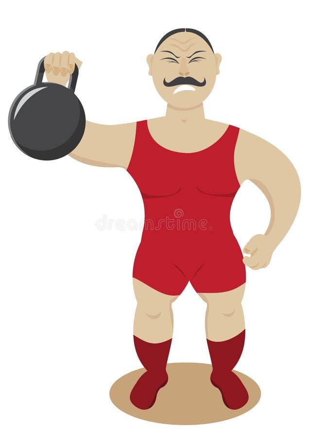 Strongman circus vector illustratie