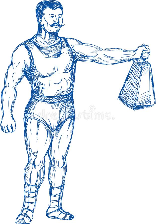 Download Strongman Holding Heavy Weight Stock Illustration - Illustration of strongman, illustration: 14875064