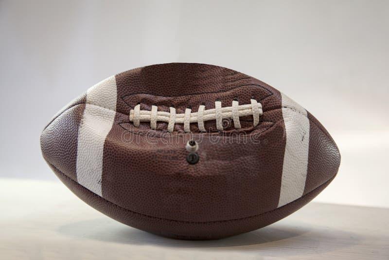 Stronniczo Deflated futbol zdjęcie royalty free