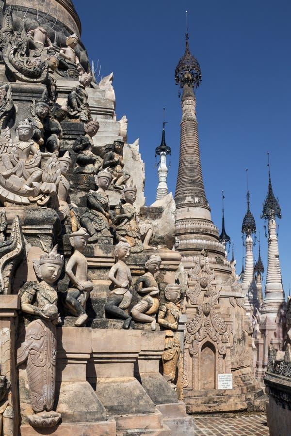 Kakku Buddyjska świątynia Myanmar - shanu stan - zdjęcia stock