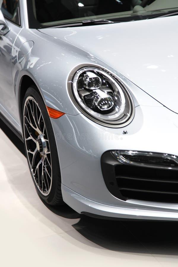 strony biały samochód obrazy stock