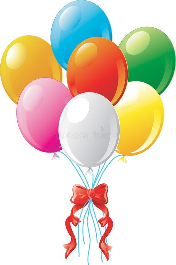 strony białych balonów royalty ilustracja
