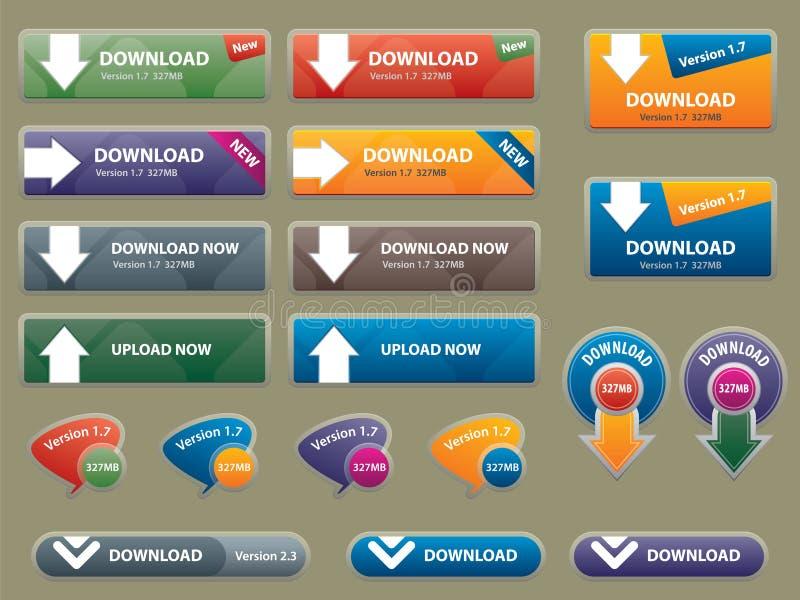 strony internetowe guzika pudełkowaty interfejs