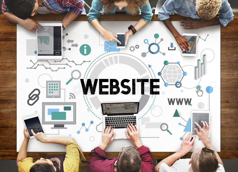Strony internetowej Connetion technologii sieci Internetowy pojęcie zdjęcia royalty free