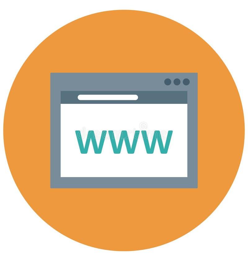 Strony internetowej domena Odizolowywał Wektorową ikonę która może być łatwo redaguje lub modyfikuje ilustracja wektor