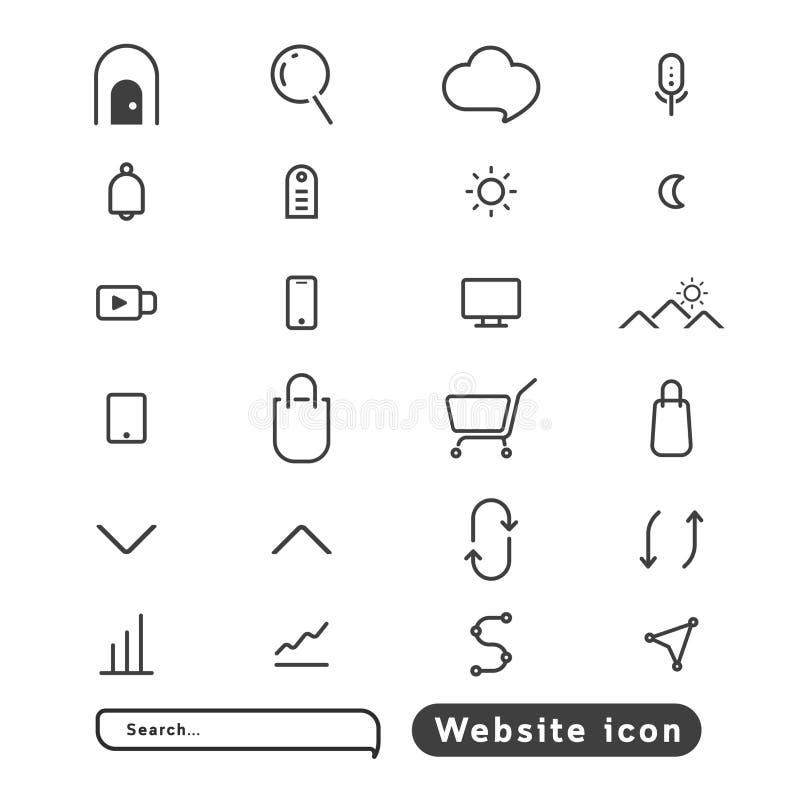 Strony internetowej ikona minimalna nuy ho ho obrazy stock