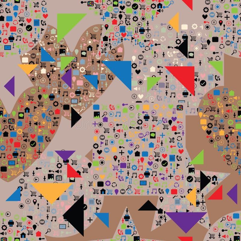 Strony internetowej ikony mody trójboka bezszwowy wzór ilustracja wektor