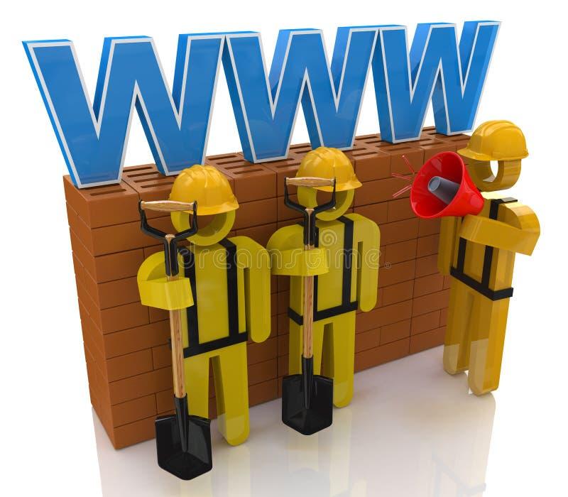 Strony internetowej naprawy lub budynku pojęcie ilustracji