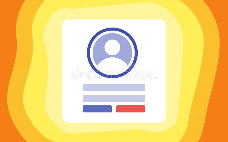 Strony internetowej nazwy użytkownikiej strona na Desktop ilustracja wektor