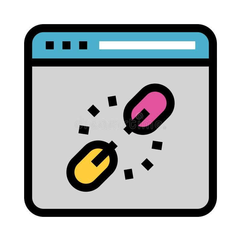 Strony internetowej połączenia przerwy koloru linii ikona ilustracji