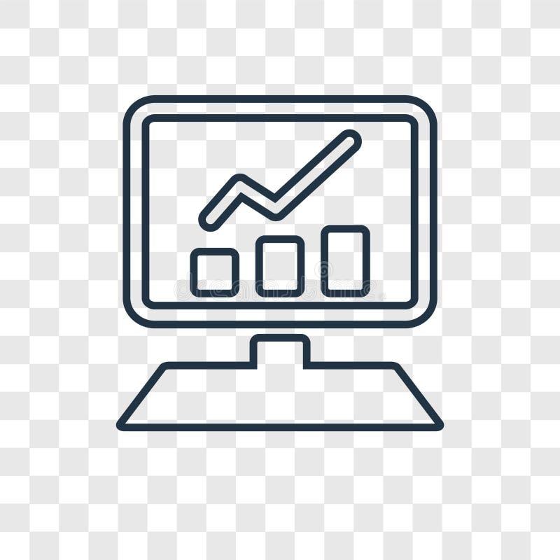 Strony internetowej pojęcia wektorowa liniowa ikona odizolowywająca na przejrzystym backg ilustracja wektor