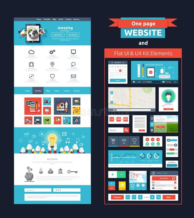 Strony internetowej strony szablon Sieć projekt ilustracji