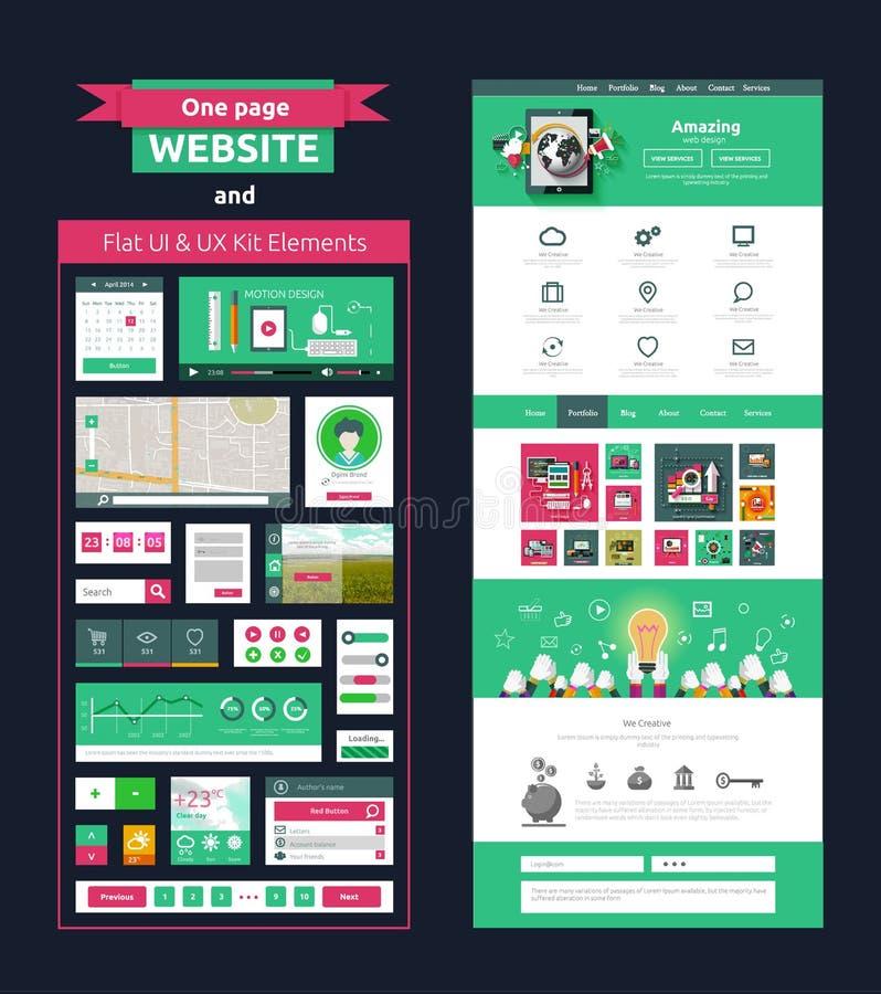 Strony internetowej strony szablon Sieć projekt royalty ilustracja