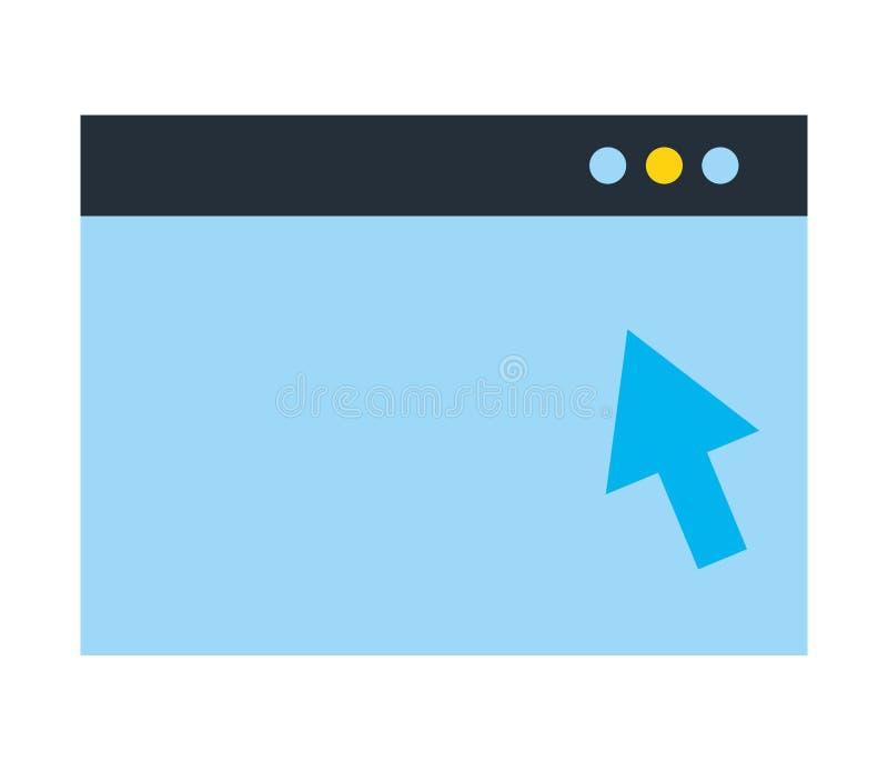 Strony internetowej stuknięcia nadokienna strzała cyfrowa ilustracja wektor
