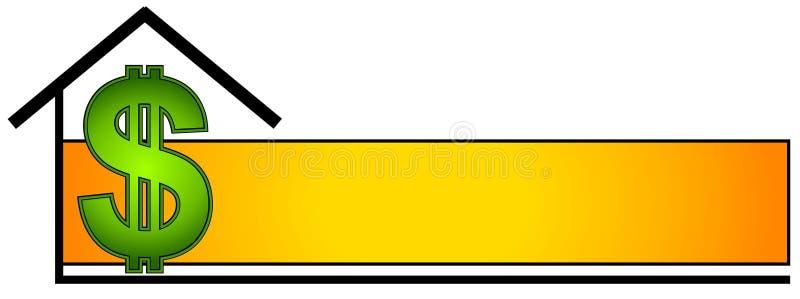 strony nieruchomości logo prawdziwego sieci royalty ilustracja