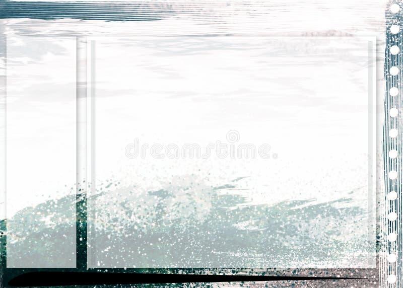 strony sztuki tła morza royalty ilustracja