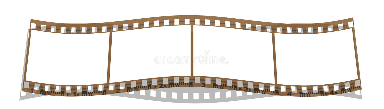 Strook 4 Van De Film Frames Stock Illustratie - Illustratie ...